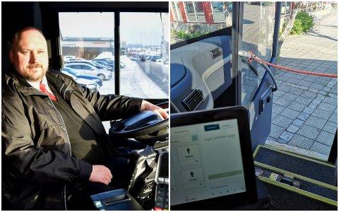 Michael Solheim Kehus minner om at det ikke lenger er gratis å reise med buss.