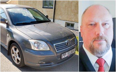 BIL TIL BESVÆR: To kjøpere, deriblant Michael Kehus i Lofoten, føler seg grundig lurt etter å ha kjøpt denne bilen.