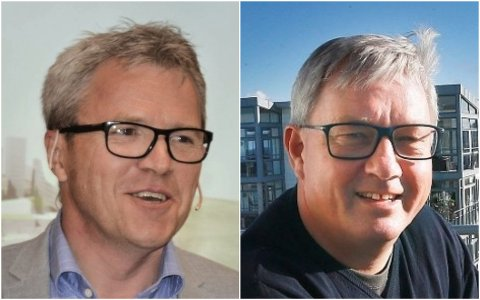 BLANT BIDRAGSYTERNE: Lofotingene Jim Roger Nordly i Stim og Benn Eidissen i Eidissen Consult AS gir penger til nordlandspartier i valgkampen.
