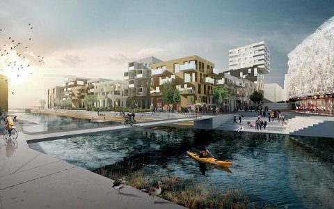 Områdeplan: Hele 250.000 kvadratmeter ny bebyggelse kan komme på det gamle fabrikkområdet – tillegg kommer noen kulturhistoriske bygninger som beholdes. Kultur skal prioriteres langs elvebredden.
