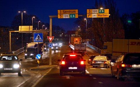 Med ny riksvei 19-tunnel, vil scener som denne ikke utspille seg i Moss by i fremtiden.