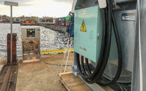 KLART TIL BRUK: Siden før jul i fjor har Moss Havn kunnet tilby landstrøm til skip som trenger det, men foreløpig er det ingen som har tatt det i bruk.