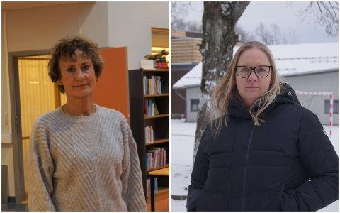 REKTORER: Bodil Orm (t.v.) på Bytårnet skole og Silje Davidsen på Ekholt skole. Begge hadde det meget travelt i siste del av 2020.