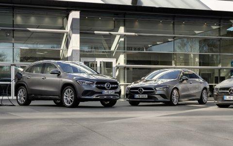Nye GLA og CLA kommer snart som ladbare hybrider. Her blir den elektriske rekkevidden opptil 69 kilometer.