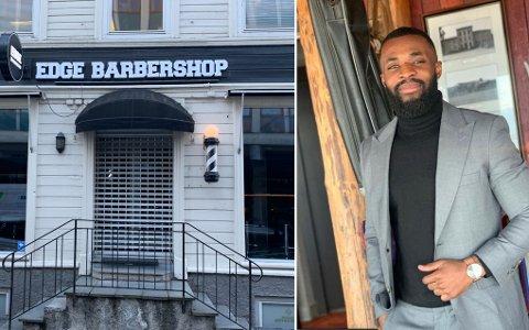 Jeffter Kwaah er eier av Edge Barbershop Trondheim.