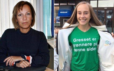 MOR OG DATTER: Moren, ordfører Sigrun Wiggen Prestbakmo (Sp), får med seg datteren Else (19) på kommunestyrelaget i Salangen. Else Fredrikke Wiggen Prestbakmo blir 1. vararepresentant for partiet.