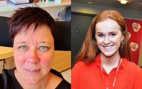 UENIGE OM RUSREFORM: Leder Kristin Stensrud (til venstre) i Gjøvik Ap og Aps stortingskandidat Ingrid Tønseth Myhr fra Vestre Toten.