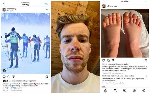 ISKALDT: Stian Berg og langløperne i Ski Classics-sirkuset fikk en iskald start på årets sesong. T.v.: Det var ned mot 30 minus enkelte steder i løypa.