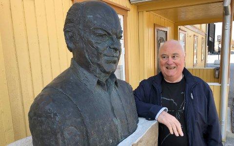 FORSLAGSSTILLER: Terje Lund foreslo at den nye vegen i Heradsbygd skulle hete Kjell Borgens veg, og sånn ble det.