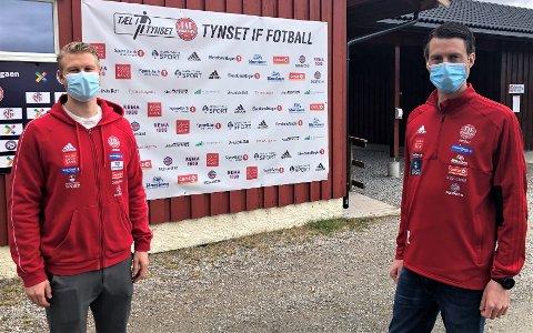 OVERGANG: Emil Fiskvik forlater Tynset etter en skuffende start på sesongen, til trener Lund (høyre) sin store skuffelse.