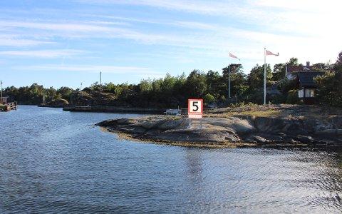 Nå er det maks 5 knop i skjermede innaskjærsmiljøer, slik som her i Risøysundet og ellers i farvannet ved Langesund og Brevik.