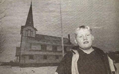 UNG: Med sine 14 år er Roar Moen i Herre kirke antakelig landets yngste klokker.