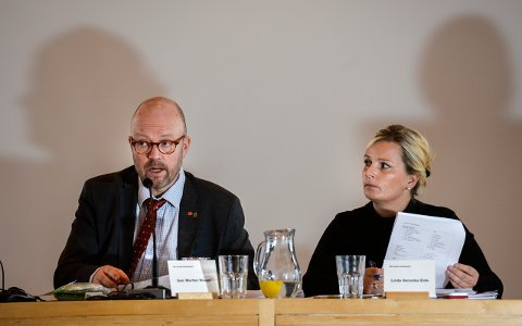 Ordfører Geir Waage og varaordfører Linda Eide.