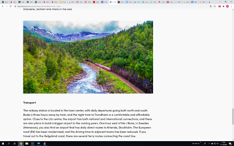 Freyr AS valgte å benytte et togbilde fra Flåmsbanen på sin nettside for å selge inn hvor fint det er å reise til Mo i Rana. Problemet er bare at Flåmsbanen på Vestlandet ligger 937 kilometer unna Mo i Rana.