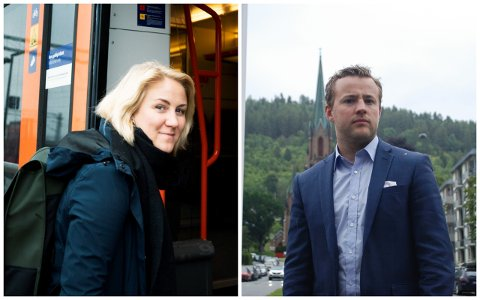 Tonje Brenna (Ap) og Lavrans Kierulf (Frp) er enige om at det bør innføres påbud om munnbind på kollektivtransport i hele Viken. Onsdag tok Kierulf opp saken i fylkestinget.