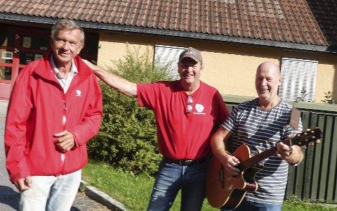 Klare med sang: Birger Hovden, Vidar Stang og Odd Martin Landstad i Tinn Ap inviterer til samling og sang på Eldres Hus onsdag.