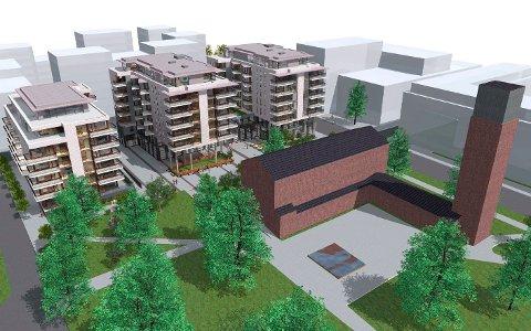 Av de 117 leilighetene ved kirken, ble to for små. Nå krever bygningssjefen i Skedsmo arkitekten for 50.000 i straffegebyr.