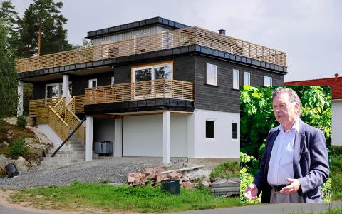 HØYT: Stridens kjerne er bolighuset i Høvikskogen 21 som ifølge kommunen er bygd 58 centimeter for høyt.