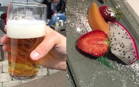 BARE Å KOSE SEG: Det er ikke funnet avvik fra lovverket i Sandefjord i juli, både skjenking og servering får «tommel opp».