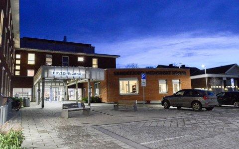 STÅR: Heisene på Sandefjord medisinske senter har stått siden fredag ettermiddag.