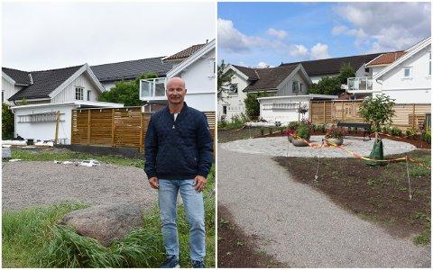 TOTALRENOVERT: Parken like ved huset til Erik Bolin er blitt totalrenovert i sommer. Nå håper han å se de tidligere besøkende returnere.
