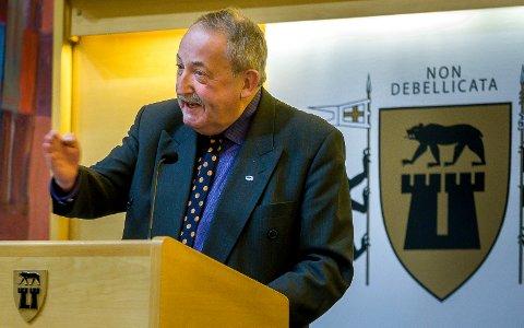 TIL BEDRIFTER: Harald Rønneberg er glad for at bedrifter i Sarpsborg får penger.