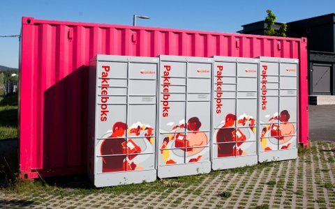 PAKKEBOKSER: Slik ser Postens pakkeboks ut. De kommer snart til Sarpsborg.