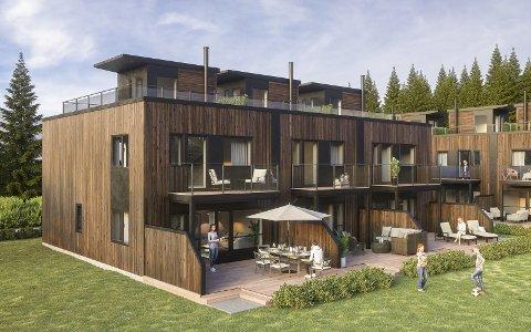 BYGGER UT: Slik blir de nye boligene i Tindlund Panorama.