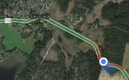 Ulykken skjedde i nærheten av Skivika i Skjeberg.