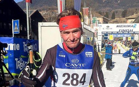 TIL TOPPS: Øyvind Wennersberg gikk helt til topps i HalvBirken i klasse 60-69 år.