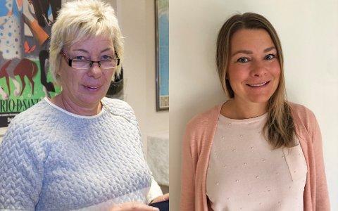 Pårørende Christin Arnesen (t.v.) og tillitsvalgt Irene Boye (t.h.) er bekymret for helsetilbudet når budsjettkuttene kommer.