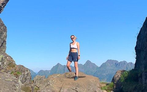 TOPPTUR: Anette Hansen er glad i å gå toppturer.
