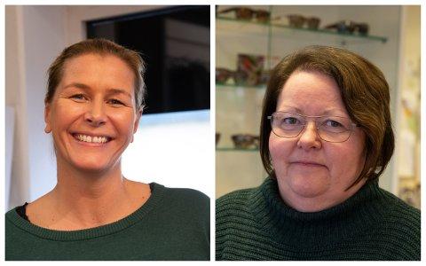 Kristine Sigmundstad (Sa du sko) og Mette Finnebråten (Sola Optikk) har gått sammen med andre butikker i Sola sentrum og Tananger for å arrangere nisjebutikkens dag lørdagen etter «Black Friday».