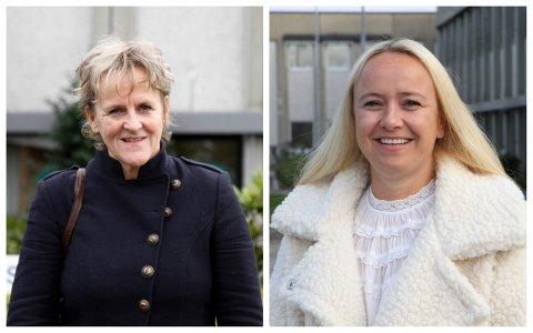 Sp-politiker Anne Marie Joa (t.v.) og Frp-politiker Renate Gimre håper politikerne nå velger kjøkken som lager fersk mat ved hvert av de tre sykehjemmene i Sola.