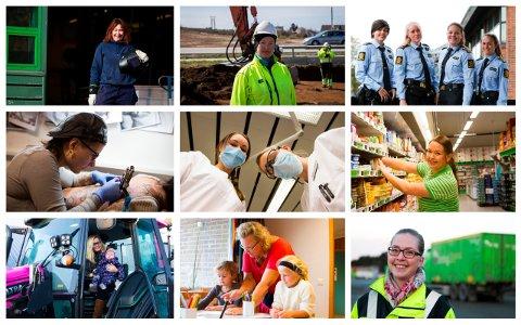 I dag finnes det kvinner i alle typer yrker, men vi er fortsatt ikke i mål når det kommer til likestilling i arbeidslivet.