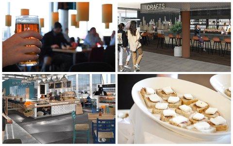 De fleste av spisestedene og barene på innlandsterminalen skal erstattes med nye.