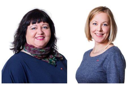 Ap-politikerne Siv-Len Strandskog og Marianne Chesak mener vi trenger en mobbeknapp.