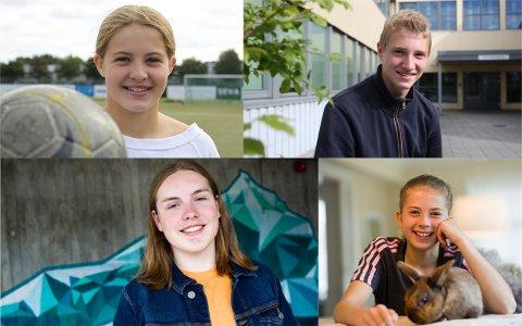 Maren Risa (14), Henrik Ølberg Støver (15), Lasse Bysheim Voll (15) og Frida Adele Solsvik Tjelta (12) har ganske ulike drømmer for fremtiden.