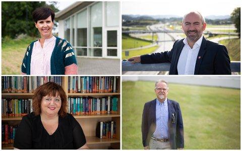 Flere sentrale politikere har en rekke styreverv. Fra venstre: Janne Stangeland Rege (H), Tom Henning Slethei (Frp), Siv-Len Strandskog (Ap) og Ove Evertsen (FNB).