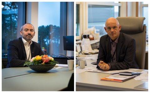 Ordfører Tom Henning Slethei og IKM-sjef Ståle Kyllingstad er hovedgjestene under Treffpunkt Sola tirsdag kveld.