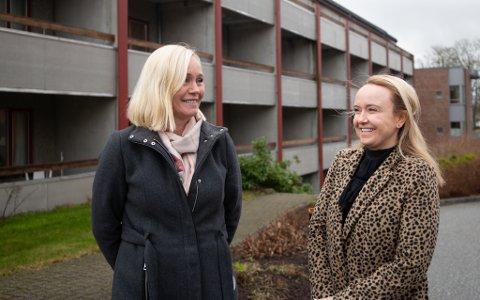 Ap-politiker Hilde Skadberg Løland og Frp-politiker Renate Gimre mener livsgledehjem først kan prioriteres etter at sykehjemmene har tilstrekkelig med grunnbemanning.