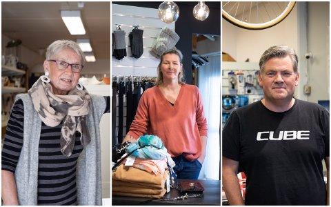 Anne Gerd Enoksen hos NMS Gjenbruk, Kristine Sigmundstad hos Taras og Jan Arvid Haarr hos Sykkelcenteret tror det er lurt å få parkeringsvakter som kan rydde opp i feilparkeringer og biler som står for lenge.