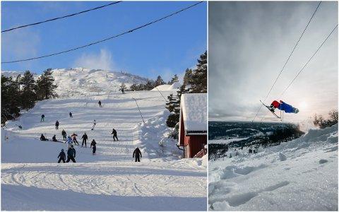 Eikerapen alpinsenter ligger i Fossdal i Åseral kommune, og drives på dugnad av rundt 100 hytteeiere.