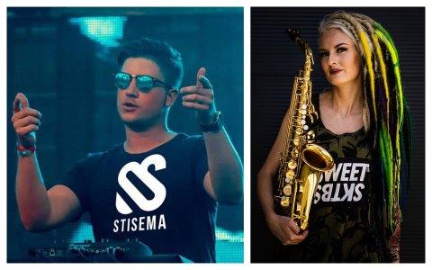 STORE NAVN: Stisema og July Sax gjester «Undergrunnen EDM» på fredag.