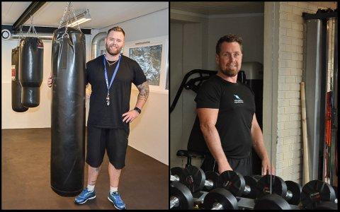Treningssentrene gjør korona-tiltak: T.v. Lars Michelsen, Svelvik Treningssenter. T.h. Morten Bredesen, Fitnessplanet.