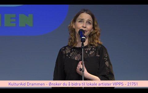 Cecilie Schilling opptrådte på direktesendingen til KulturAid, tirsdag.