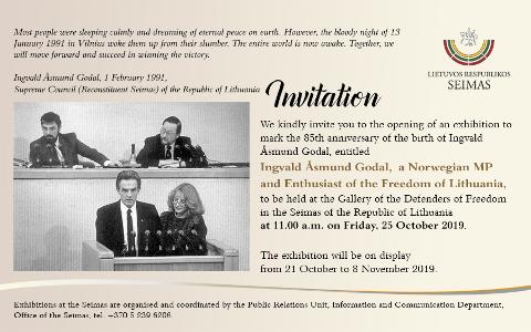 PLAKAT: Slik var invitasjonen til Godal-arrangementet i Litauen.