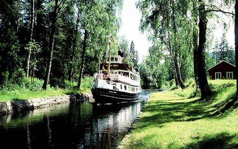 FORTSATT TILTREKNINGSKRAFT: Telemarkskanalen er 160 år. Den benyttes fortsatt flittig.