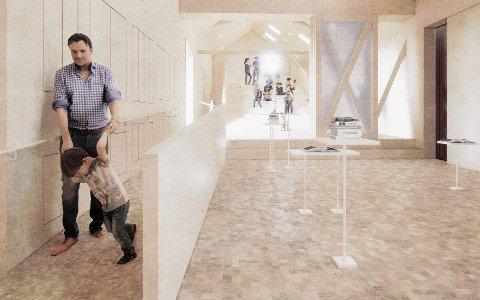 BRUKERVENNLIGHET: Med et vinterisolert museum gis det større muligheter for framtidige utstillinger og installasjoner. Illustrasjon:Børve Borchsenius Arkitekter as