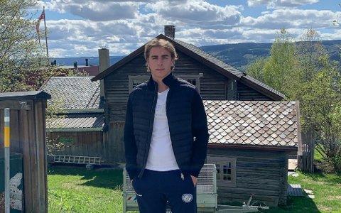 FORNØYD: Vegard Fredriksen var en glad mann da TA snakket med han like etter at klubben annonserte at han var tatt opp på A-laget.